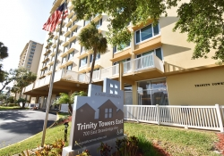 Trinity Towers East sign