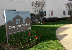 Chestnut Gardens sign