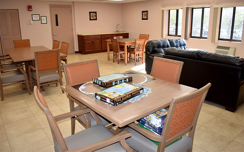 Grace Apartments common room