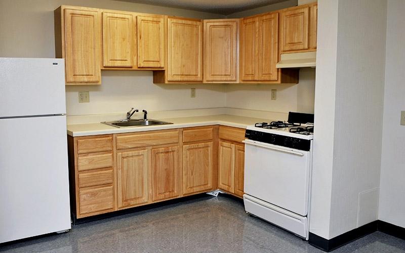 Aaron Briggs Manor unit kitchen