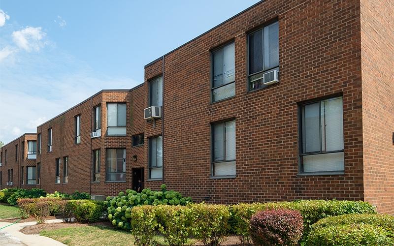 Greenwood Park Apartments building windows