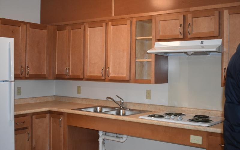 Tribune Apartments unit kitchen
