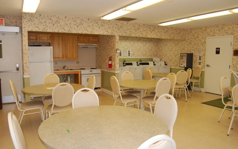 South Winds community room and kitchen