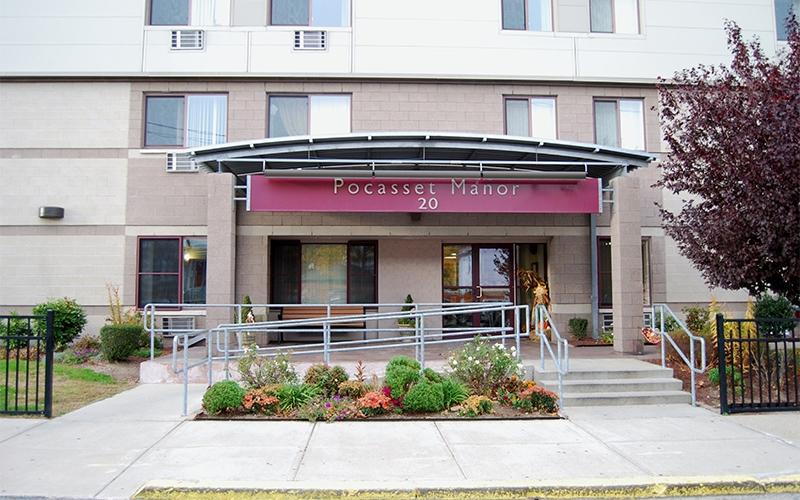 Pocasset Manor exterior entrance