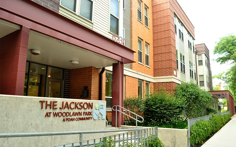 The Jackson entrance and sign