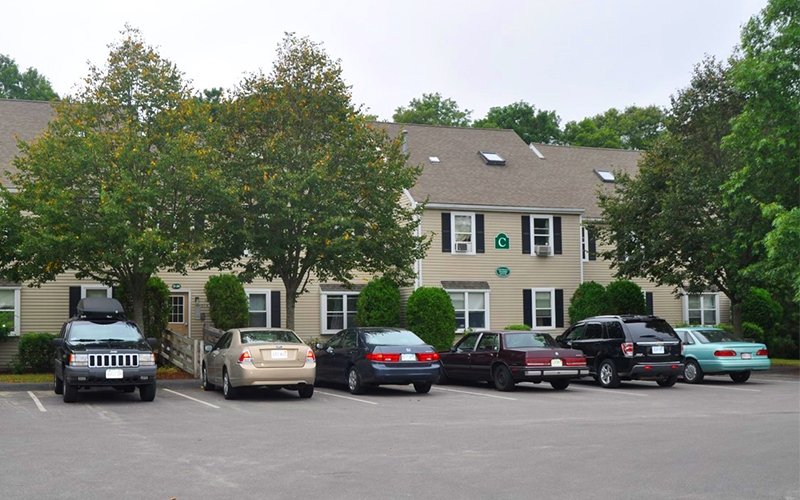 Founders' Court parking area