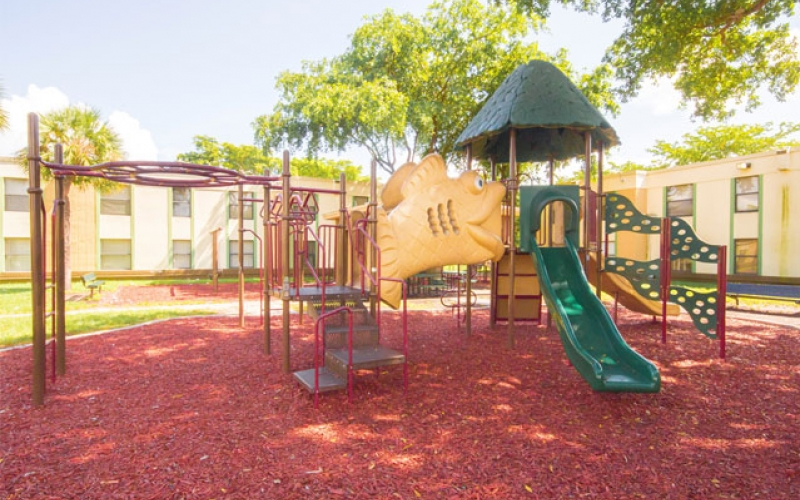 Cutler Manor Apartments playground jungle gym