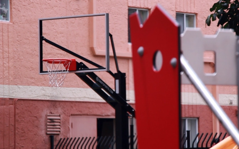 Campbell Arms Apartments basketball hoop