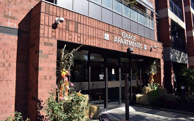Grace Apartments exterior entrance