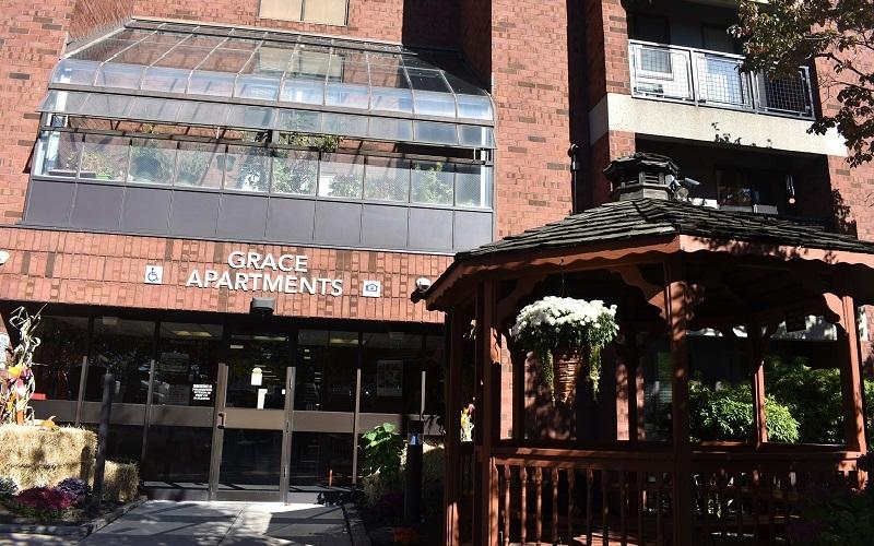 Grace Apartments gazebo
