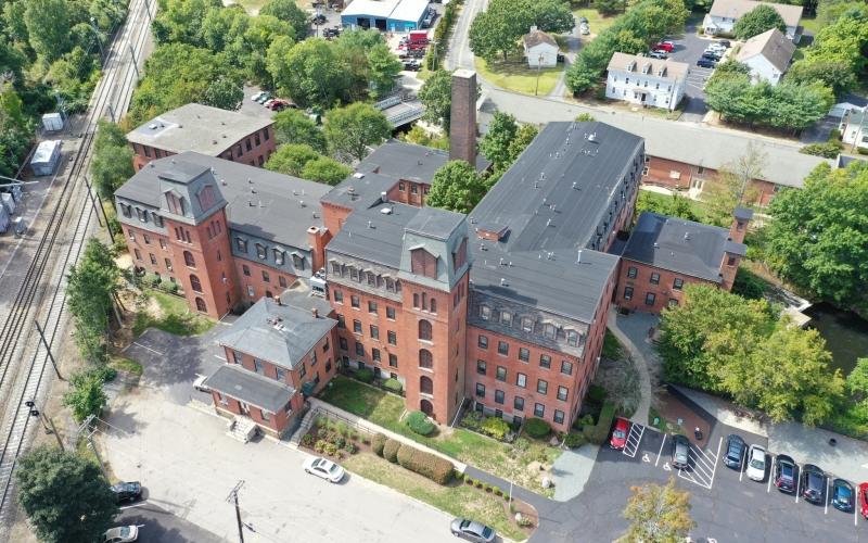 Hebronvielle Mill drone photo