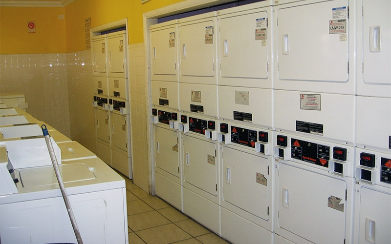 Campbell Arms Apartments laundry room