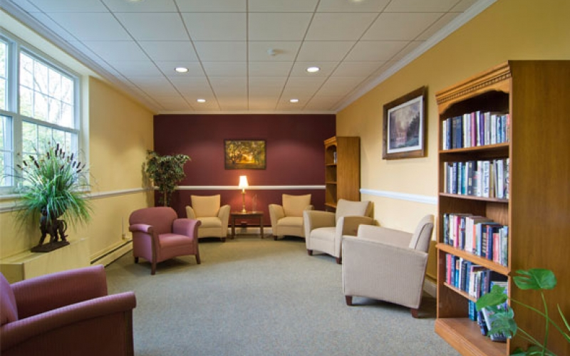 Fairweather library and sitting area Salem