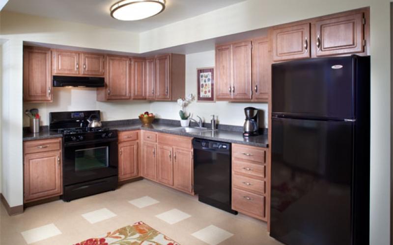 Temple Landing unit kitchen