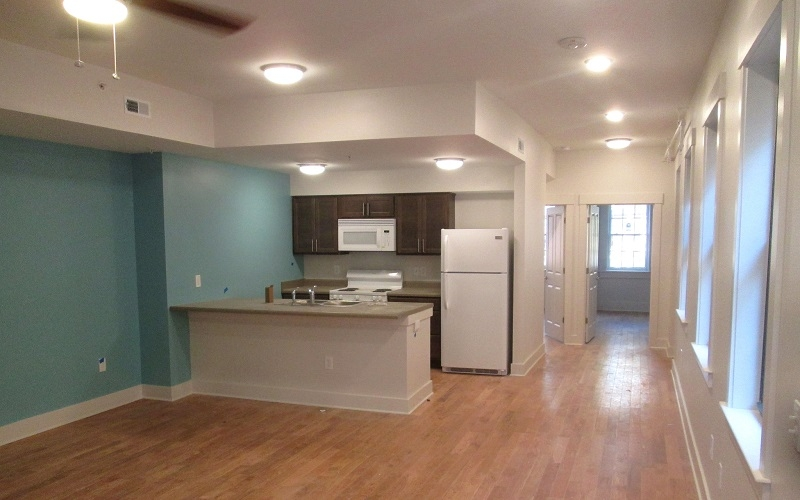 Abington Race and Pleasant unit kitchen