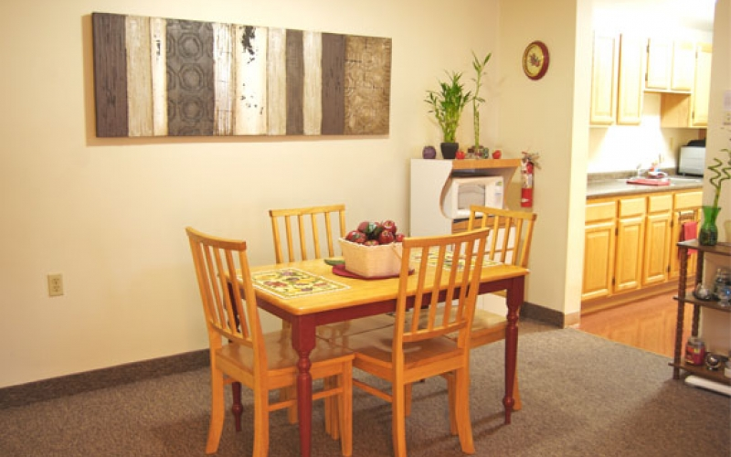 Heritage Village unit dining area