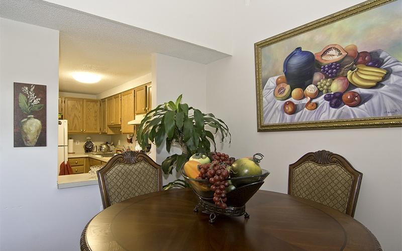 Chestnut Gardens unit dining room