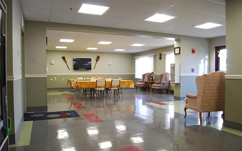 Pocasset Manor common room