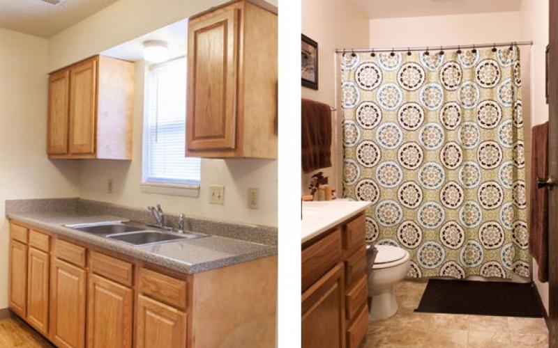 Prairie Plains kitchen and bathroom