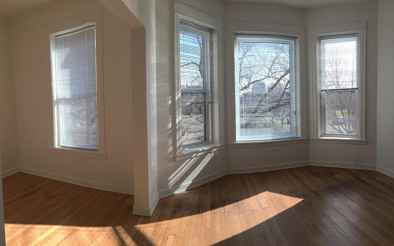 The Washington unit living room and windows