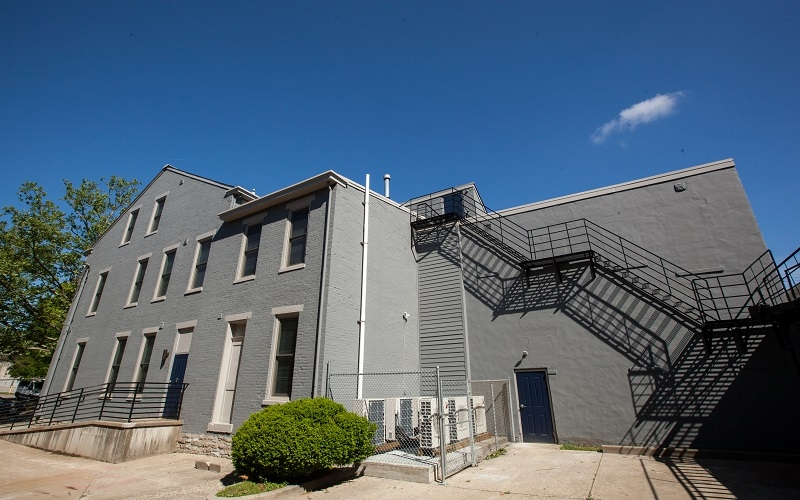 Gray building exterior