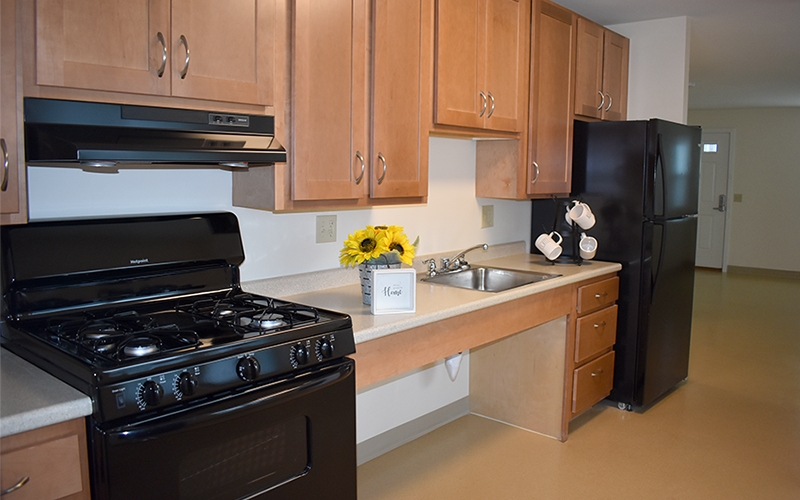 Oxford Place and Gardens unit kitchen