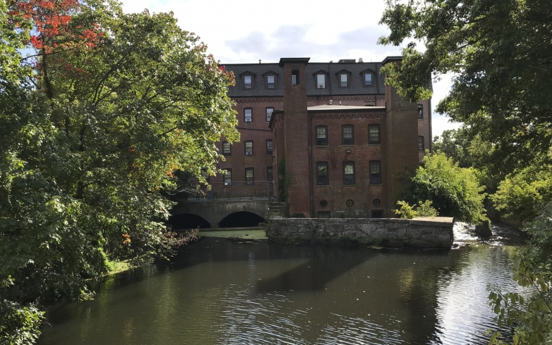 Ten Mile River and Hebronville Mill