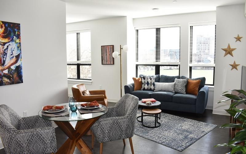 Flat 9 unit livng room