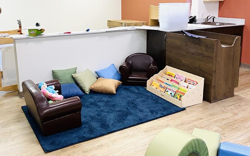 Childcare center reading area