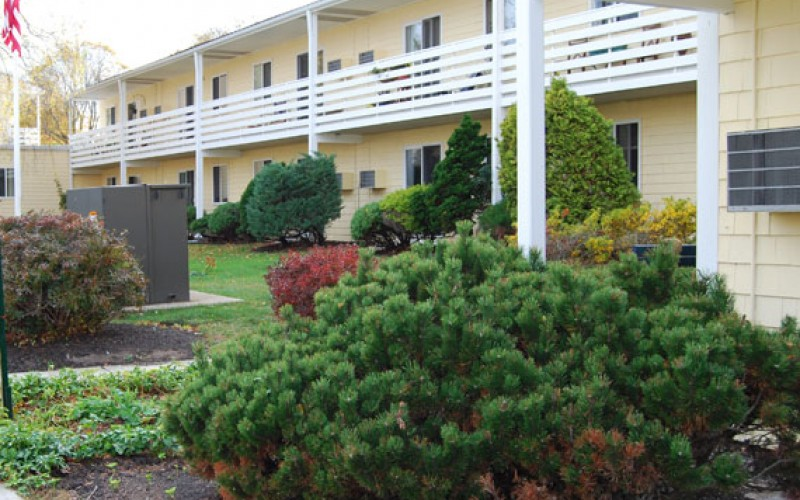 Beachwood exterior and bushes