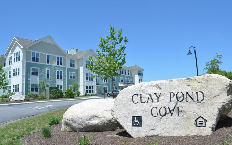 Clay Pond Cove sign