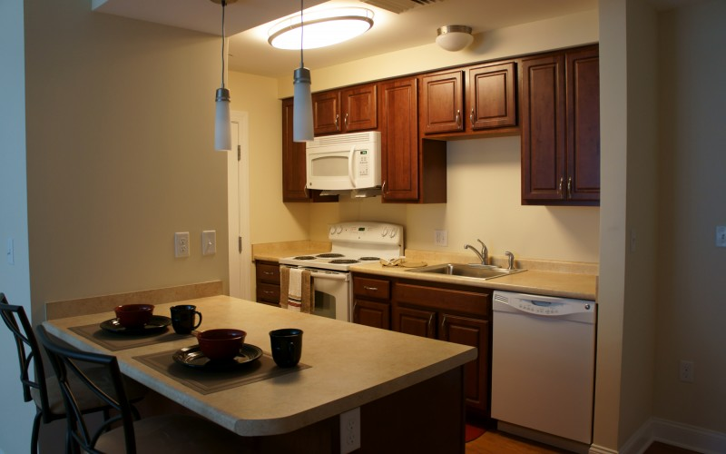 Clay Pond Cove unit kitchen and dining area