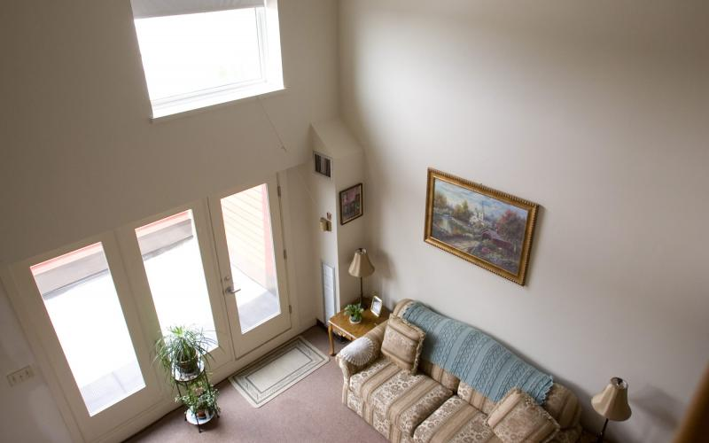 unit living room seen from loft