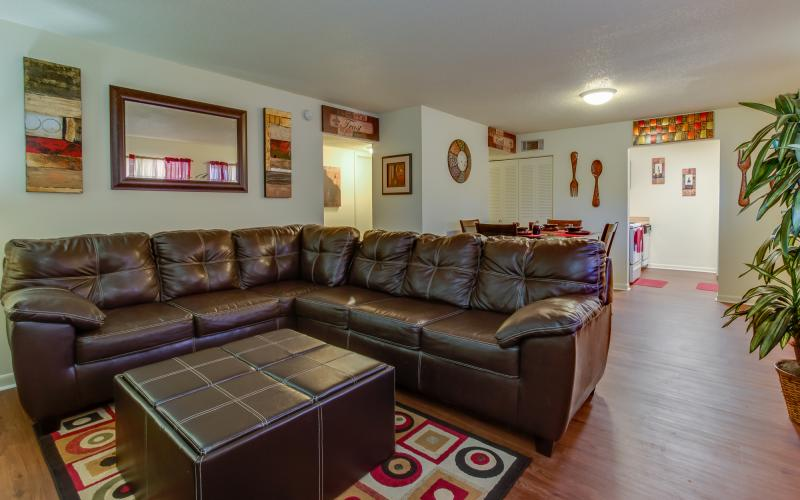 Middletowne Apartments unit living room