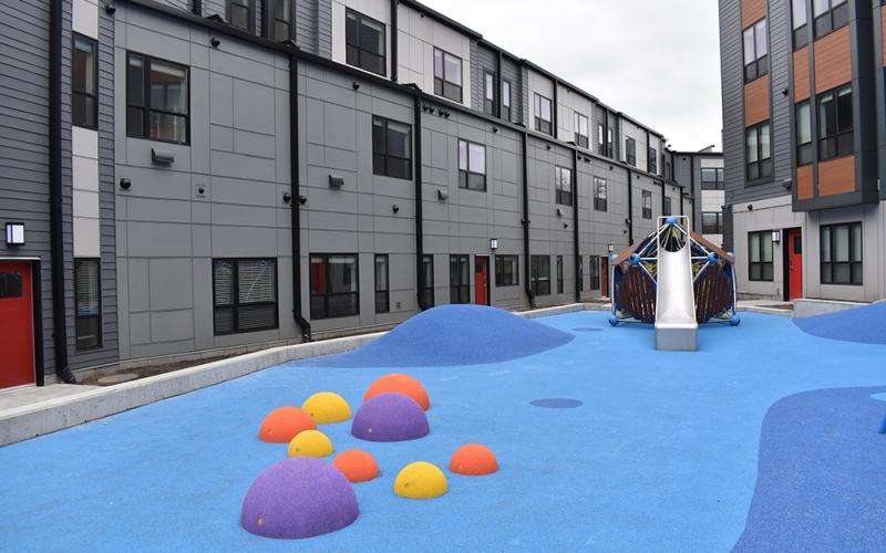 Flat 9 courtyard playground