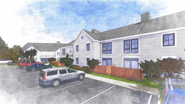 A rendering of the proposed development at 950 Falmouth Road in Mashpee