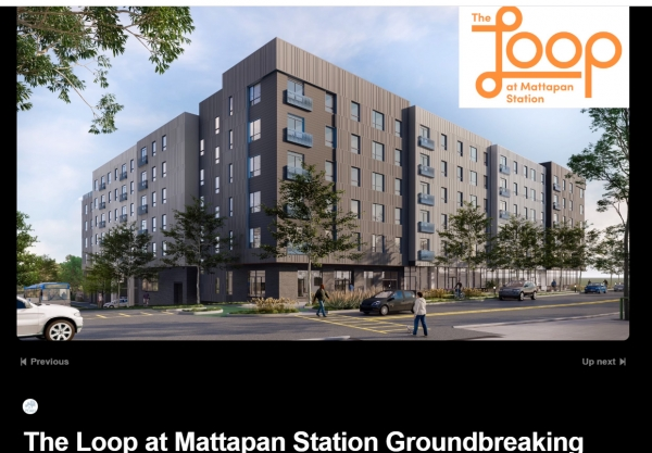 The Loop at Mattapan Station Groundbreaking