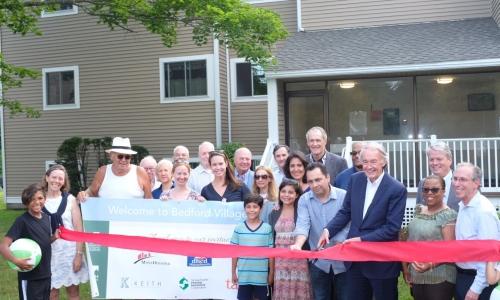 Senator Ed Markey visits Bedford Village to celebrate recent renovations