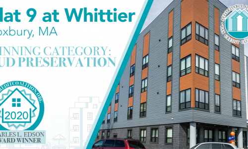Flat 9 at Whittier in Roxbury Honored with Affordable Housing Award From National Coalition